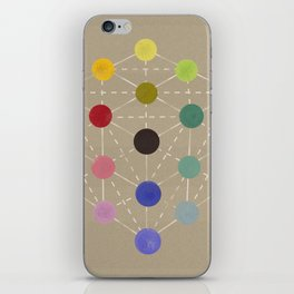 Colour cube (black point), Manual of the science of colour by W. Benson, 1871, Remake, vintage wash iPhone Skin