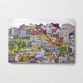 Edificios Colores Las Palmas Metal Print