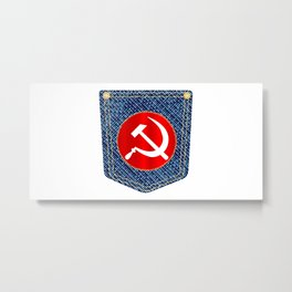 Russian Denim Pocket Metal Print