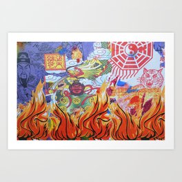 Burnin' Paper Full Canvas Art Print