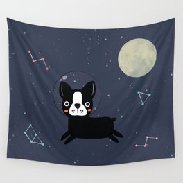 Boston Terrier In Space Wall Tapestry