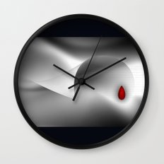 The red drop Wall Clock