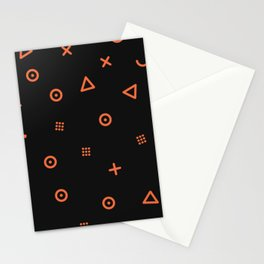 Happy Particles - Black Stationery Cards