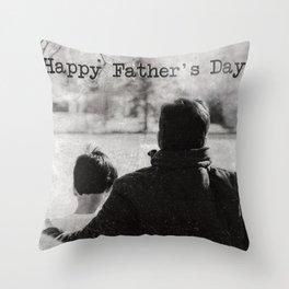 Happy Father's Day #blackwhite Throw Pillow