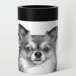 Black and White Chihuahua Can Cooler