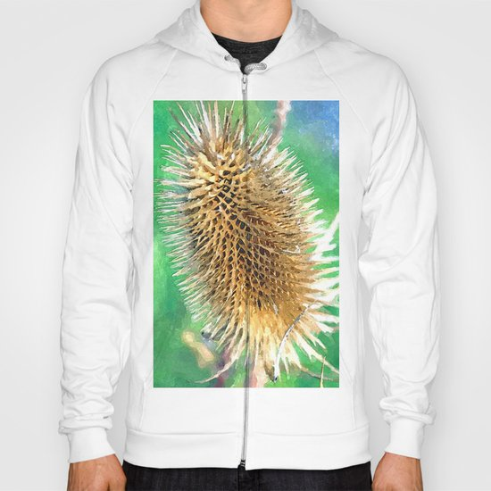 Thistle Head watercolour Hoody