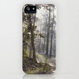 Wet Morning in the Forest iPhone Case