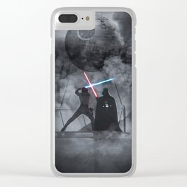 Luke fighting against his father. Clear iPhone Case