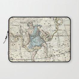 Constellations Ophiuchus and Serpents, Celestial Atlas Plate 9, Alexander Jamieson Laptop Sleeve