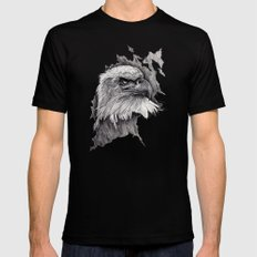 Eagle Black LARGE Mens Fitted Tee