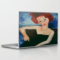 redhead Laptop & iPad Skins featuring Redhead by Sandra Dimitrijevic