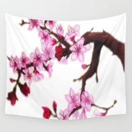 Cerezo en flor Wall Tapestry
