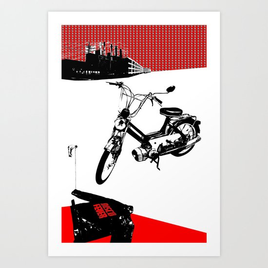 Dearborn Moped Art Print