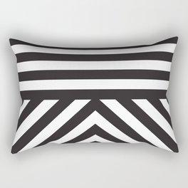 Black Stripes Rectangular Pillow