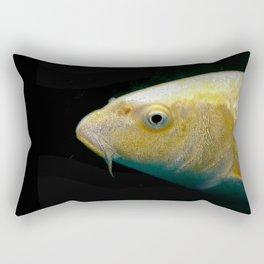 A lucky golden colored carp/Nishikigoi(Japanese Colored Carp) Rectangular Pillow