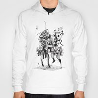 samurai Hoodies featuring Samurai! by HELLLOJOJO