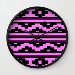 Etnico violet version Wall Clock