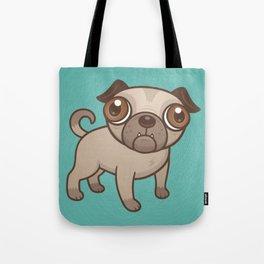 Pug Puppy Cartoon Tote Bag