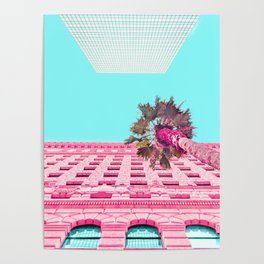 LA Palm Tree Look Up Poster
