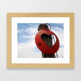 MT Hearts Nikki Framed Art Print