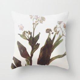 Leaf & Floral Throw Pillow
