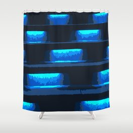 Neon Singapore Nights Shower Curtain