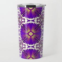 Azulejos - Portuguese Tiles Purple Travel Mug