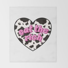 eat the rich! <3 Throw Blanket