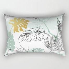 Golden Leaf Rectangular Pillow