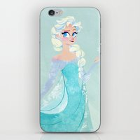elsa iPhone & iPod Skins featuring Elsa by Laura Lewis