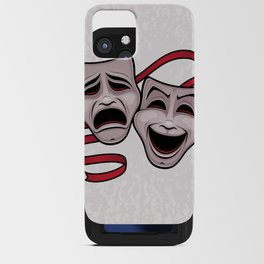 Comedy And Tragedy Theater Masks iPhone Card Case
