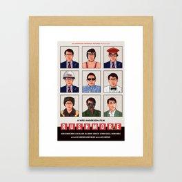 Rushmore alternate movie poster Framed Art Print