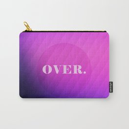 OVER - purple and pink gradient Carry-All Pouch