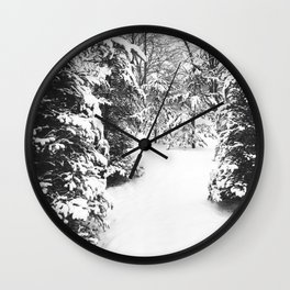 Winter Photography | Snowy Day Wall Clock