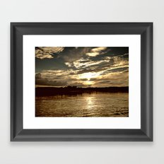 Cotton and Glass Framed Art Print