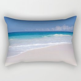 The Ocean's Lacy Fringe - Tropical Horizons Series Rectangular Pillow