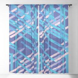 rectangle xyz 04 Sheer Curtain