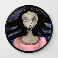 indigo Wall Clocks featuring Indigo by Yazmin Basa