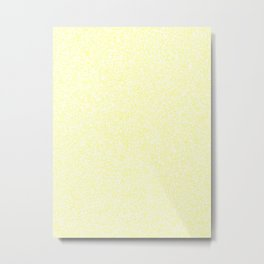 Spacey Melange - White and Pastel Yellow Metal Print