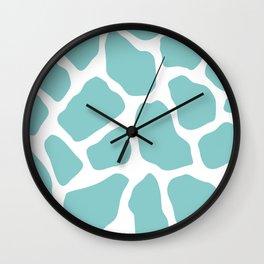 Sky Blue Giraffe Print Wall Clock