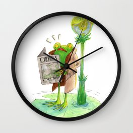 Dangerous Times Ahead Wall Clock