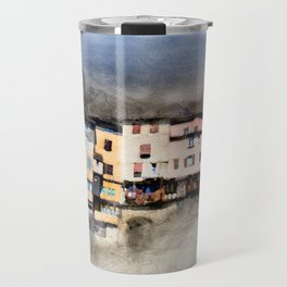 French suspended village of Pont en Royans on cliff Travel Mug
