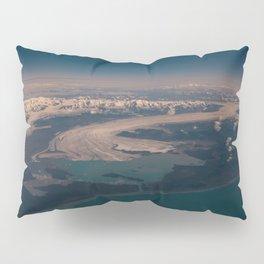 Aerial Glacier Three - Alaska Pillow Sham