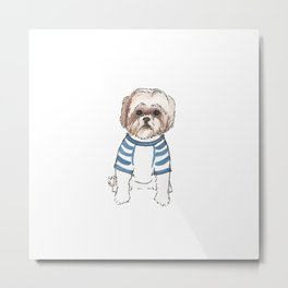 ShihTzu Life - Watercolor Shih Tzu Metal Print