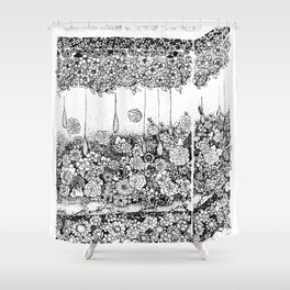 Anatomy Series: Skin Flowers Shower Curtain