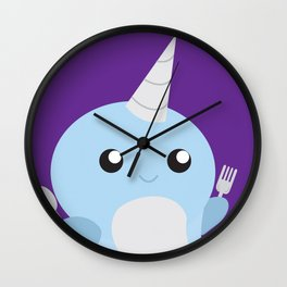 Narwhal - Meal Time Wall Clock
