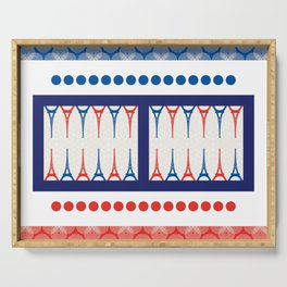 Backgammon – it's a GAME Serving Tray