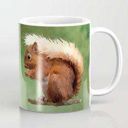 Scruffy Red Squirrel Coffee Mug