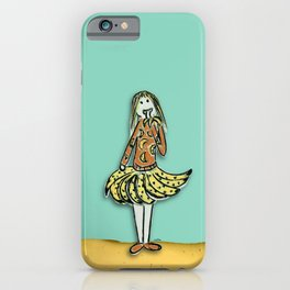 Banana Girl l Karina Kamenetzky iPhone Case