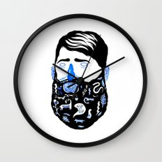 Animal Beard Wall Clock